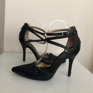 Sam & Libby Pointed Toe Stiletto Heel Black 8